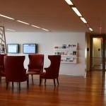 Lobby with LED lighting